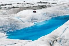 The gigantic Medenhall Glacier near Juneau