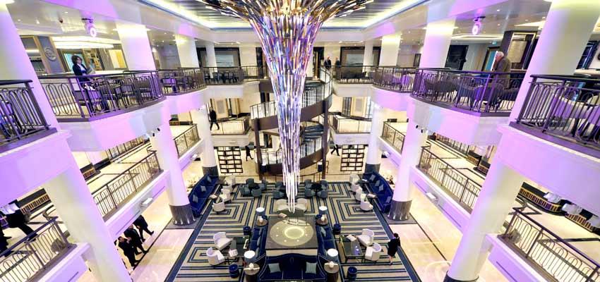 Britannia's stunning main atrium