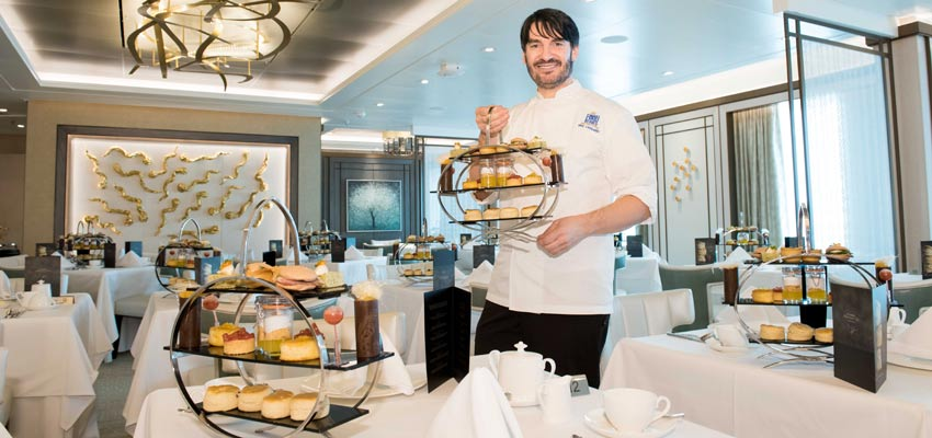 Afternoon tea with Eric Lanlard aboard Britannia