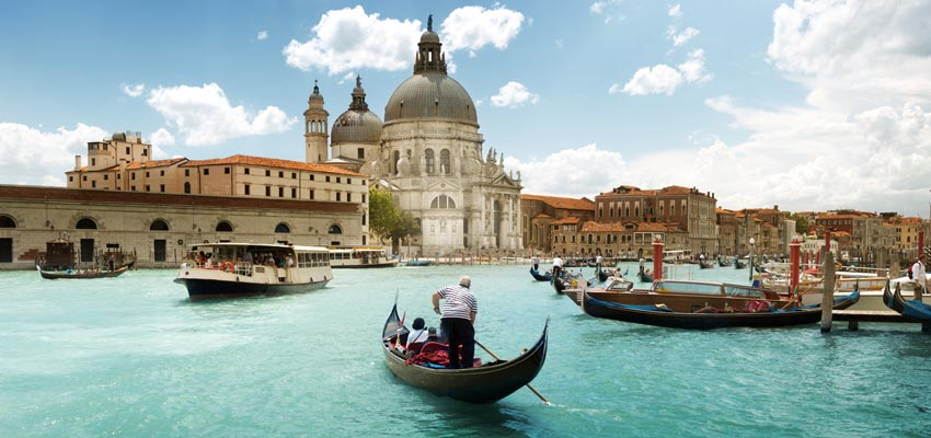 The beautiful canals of Venice, Italy