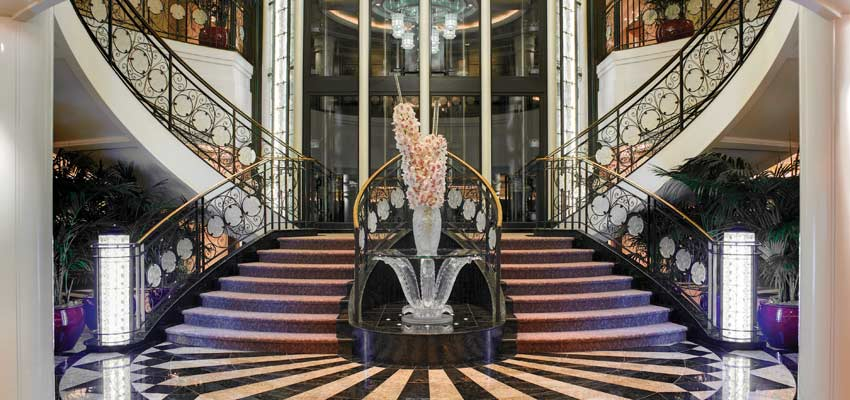 Oceania Marina's impressive Grand Staircase