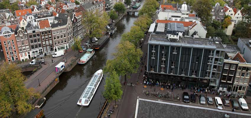 Ariel view of Anne Frank House