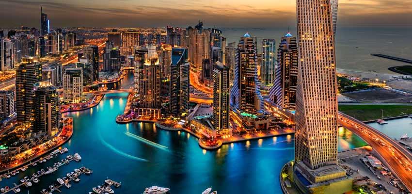 Dubai's stunning marina