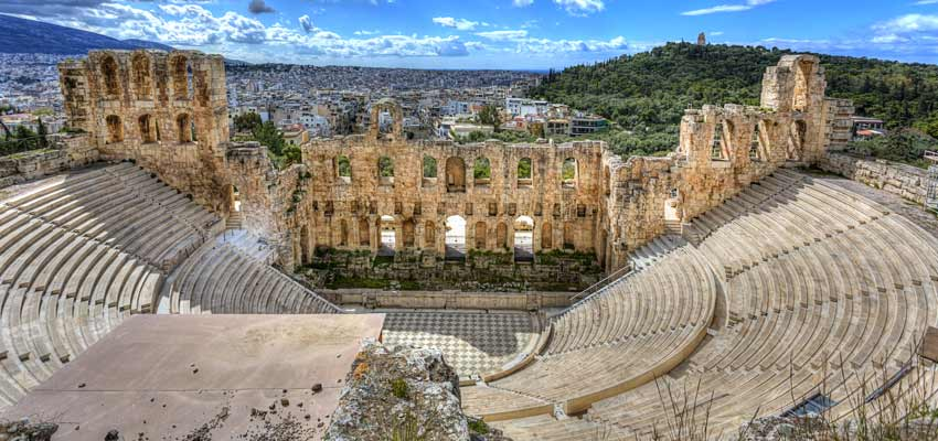 The ancient Theatre of Dionysus in Athens