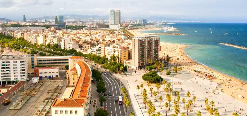 Beautiful beaches of Barcelona