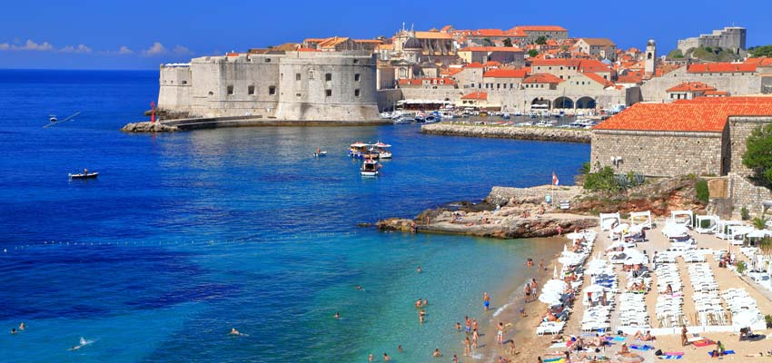 Ancient architecture and beautiful beaches in Dubrovnik