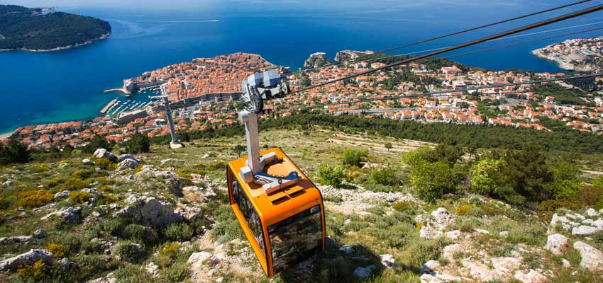 Take the cable car to the top of Mount Srd for amazing views across Dubrovnik