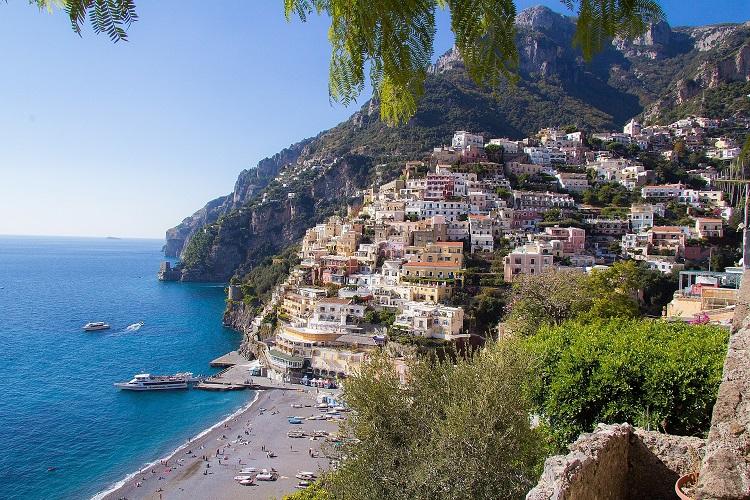 Mediterranean coastline - Amalfi coastline