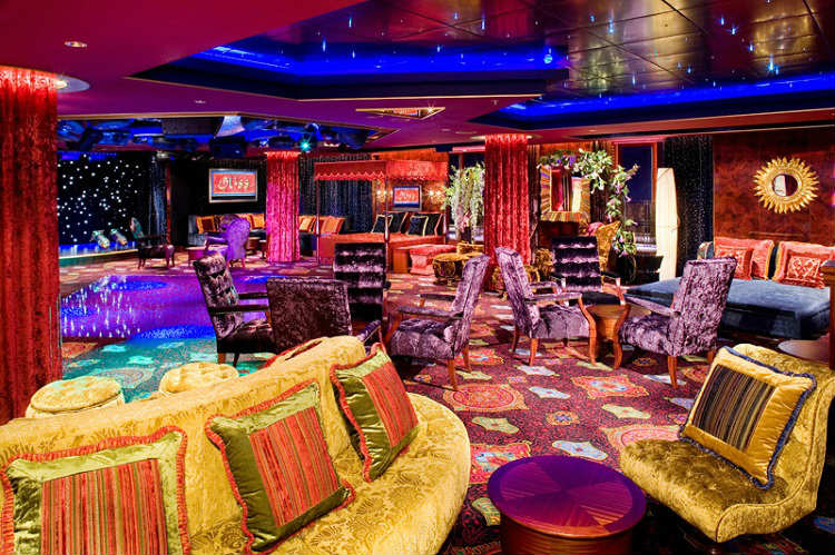Norwegian Cruise Line's cosy and comfortable Bliss Ultra Lounge