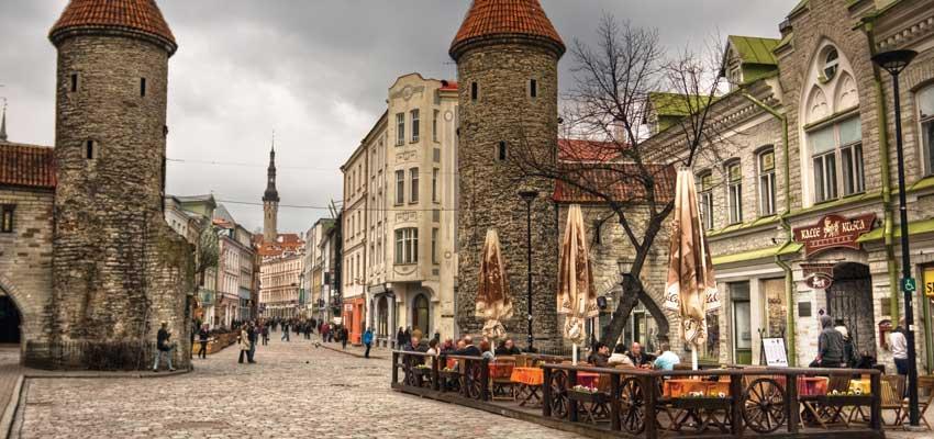 The historic centre of Tallinn, Estonia