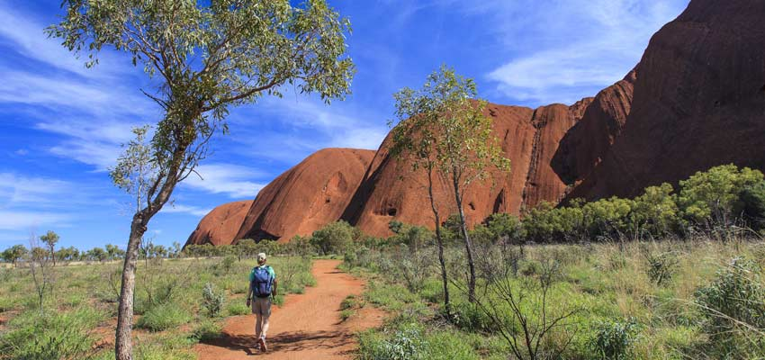 Ayers Rock in the beautiful Australian Outback