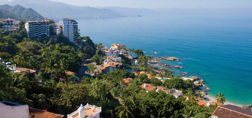 The stunning shoreline of Puerto Vallarta in Mexico