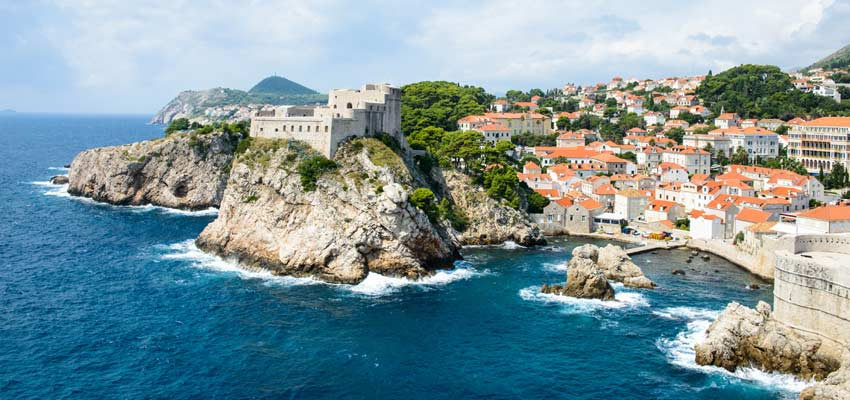 The ancient city of Dubrovnik on Croatia's Mediterranean coast