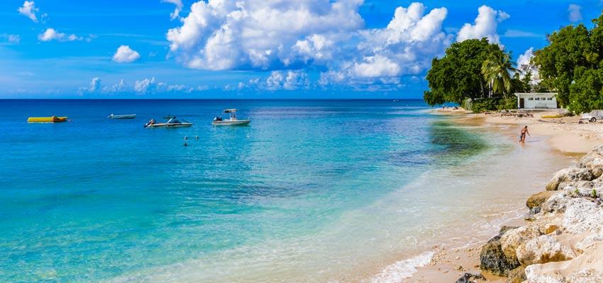 A beautiful beach on the coast of Barbados