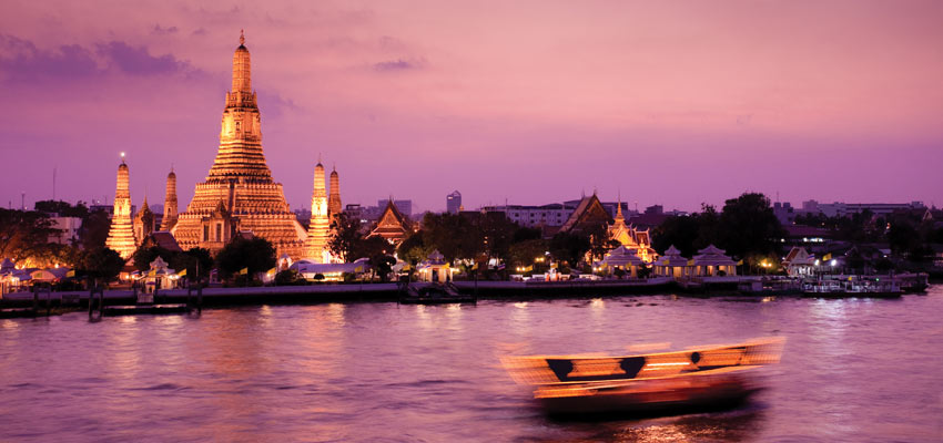 Wat Arun on the banks of the Chao Phraya river