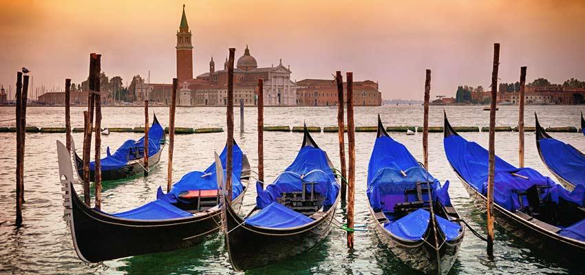 Venice's iconic gondolas