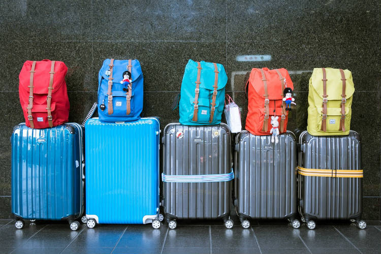 Luggage lined up - Booking a cruise