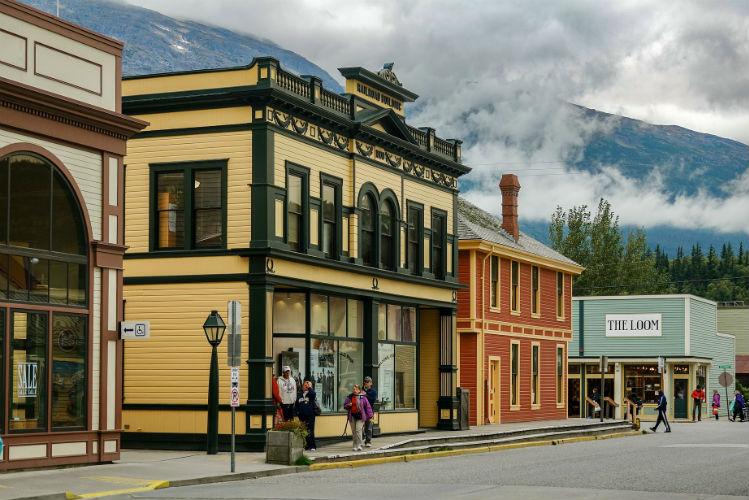 Skagway town in Alaska