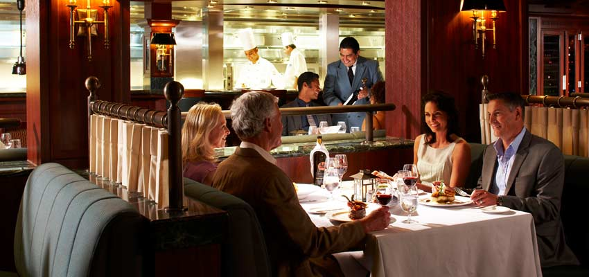 Delicious speciality dining at Princess Cruises' Crown Grill