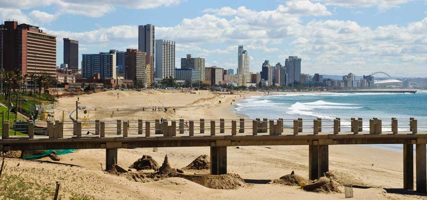 Durban's golden sandy beaches