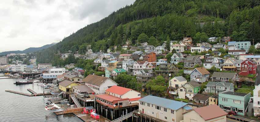 The quaint Alaskan port of Ketchikan