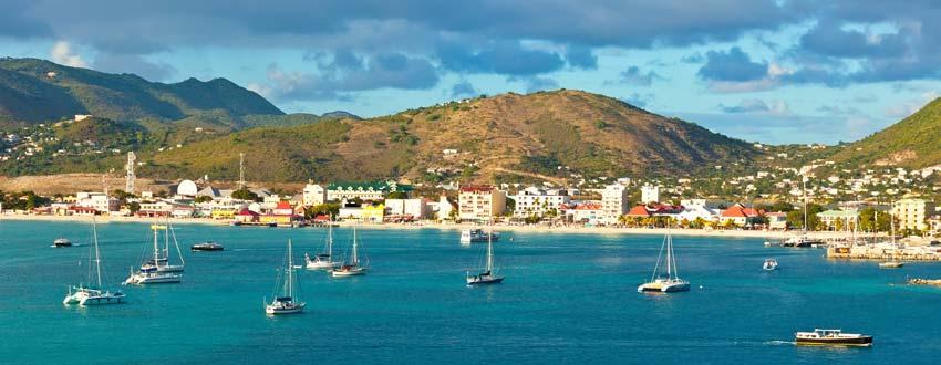 Breathtaking views along the coast of St Maarten