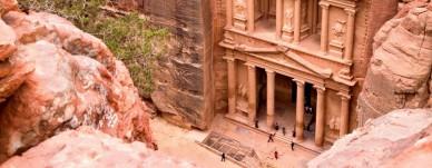 The ancient city of Petra, Jordan