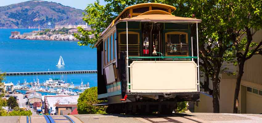 San Francisco's iconic trolley cable cars
