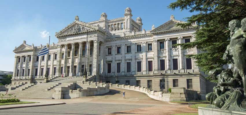 Montevideo's parliament building Palacio Legislativo