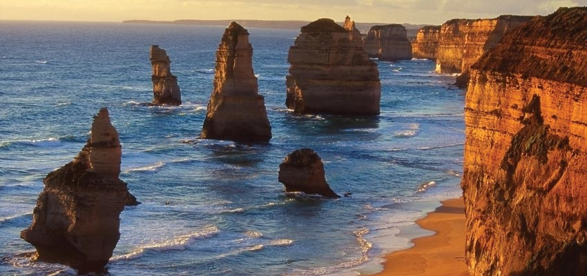 Stunning rock formations off the coast of Melbourne