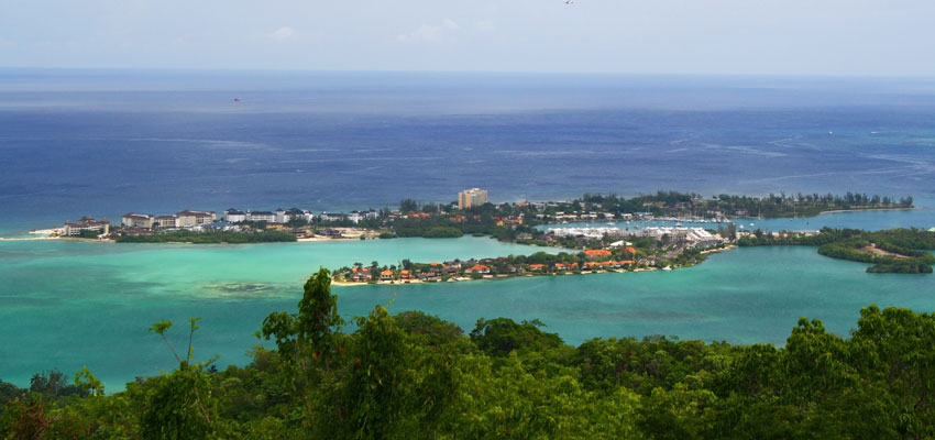 Panoramic view of Montego Bay