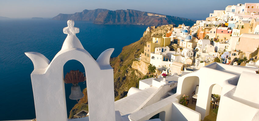 The quaint town of Oia on Santorini