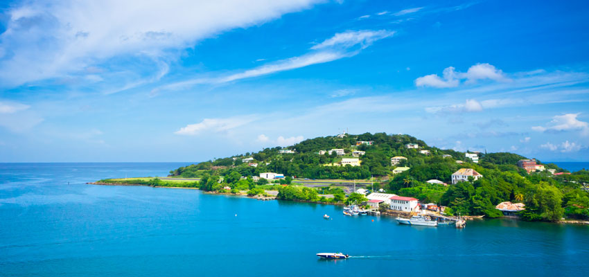 Coastal view of St Lucia
