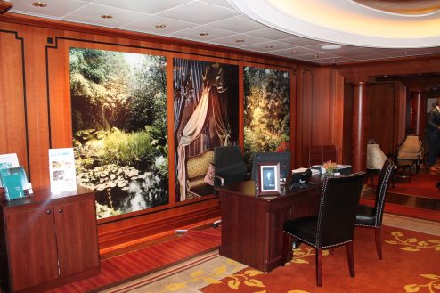 Concierge desk on-board Celebrity Eclipse