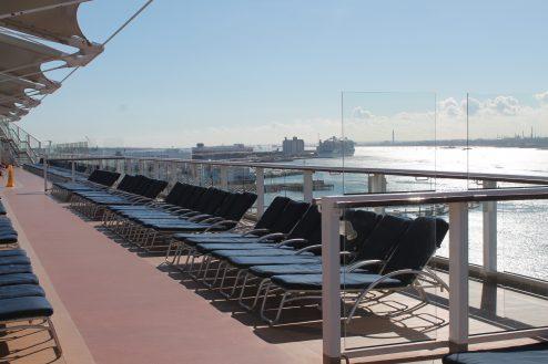 Sun deck on-board Celebrity Eclipse