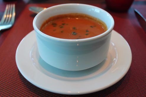 Soup dish on-board Celebrity Eclipse