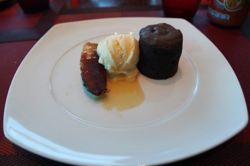 Dessert on-board Celebrity Eclipse