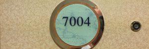 Stateroom door number