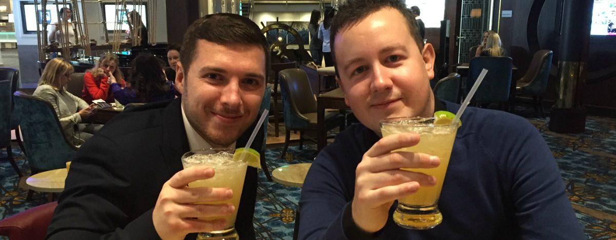 Cruise Concierge enjoying drinks on-board
