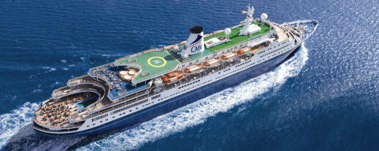 CMV cruise ship Marco Polo on the water