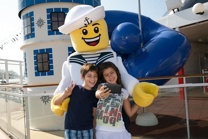Children enjoying the Lego Experience on-board MSC Meraviglia
