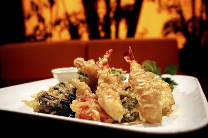 Vegetable tempura in a speciality dining venue on MSC Meraviglia