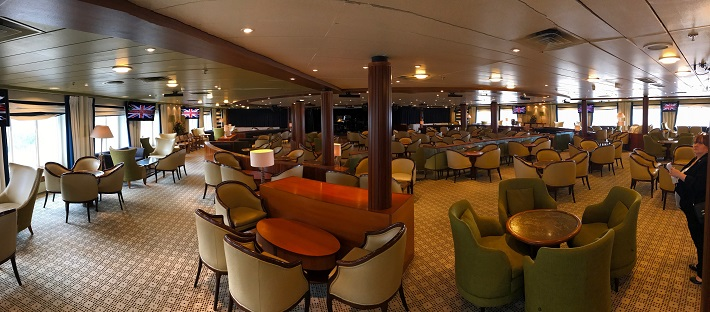 Sophisticated restaurant on-board Saga Pearl cruise ship