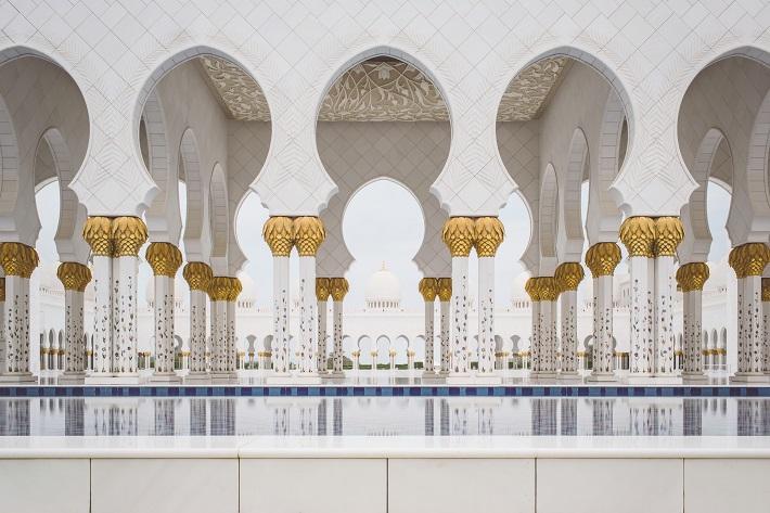 Elaborate architecture seen during Arabian cruises to Abu Dhabi