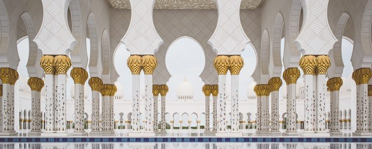 Elaborate architecture in an Arabian cruise destination