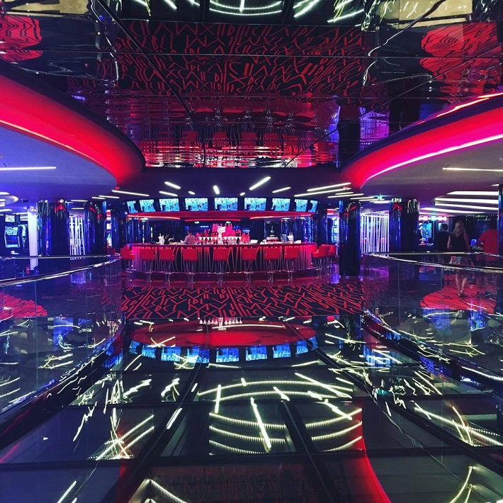 Futuristic-looking casino on-board MSC Meraviglia