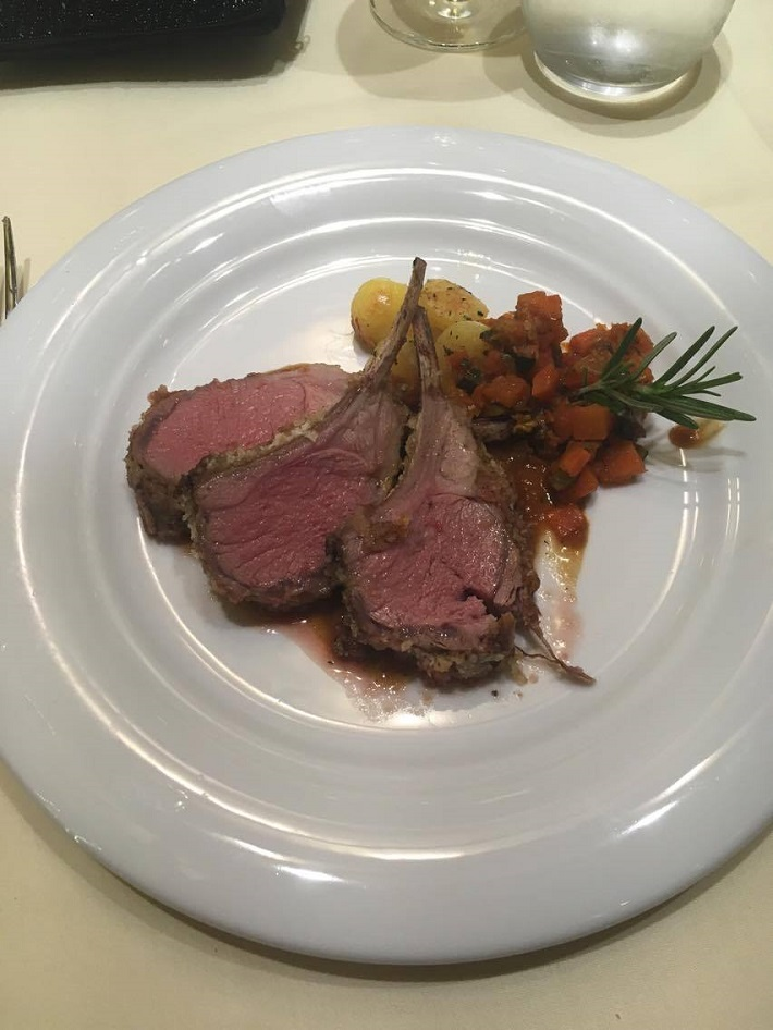 MSC Meraviglia beef dish
