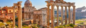 Ancient ruins on a Rome cruise excursion