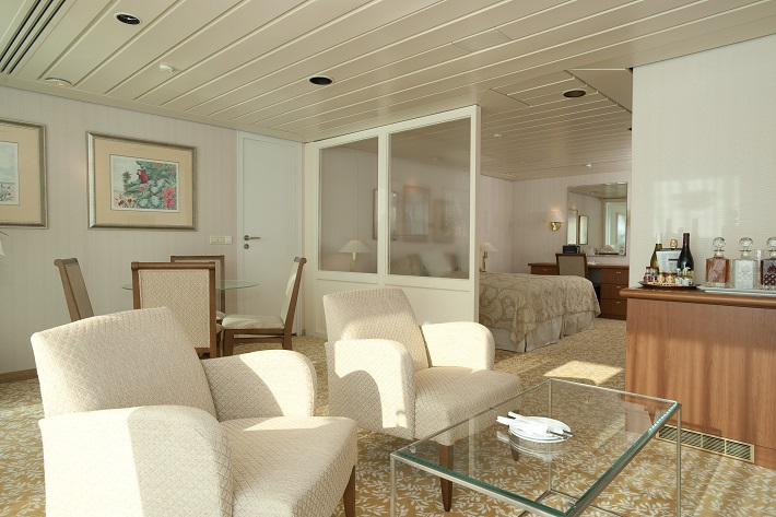 Premier Suite on-board Fred. Olsen cruise ship, Balmoral