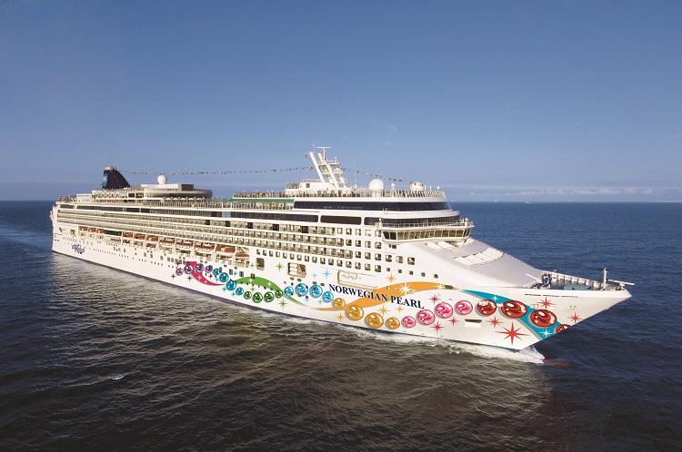 Norwegian Cruise Line's Norwegian Pearl cruise ship on the water